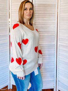 Sweetheart U-Neck Sweater