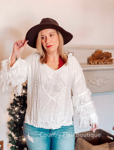 For The Love Of Fringe Sweater