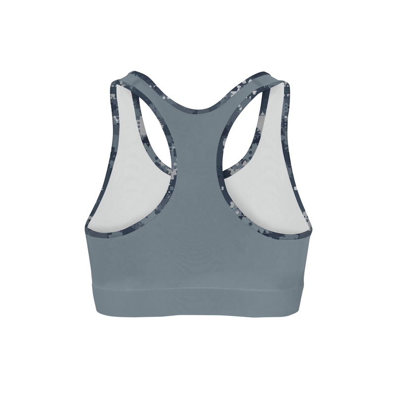 9f9d767dccd42 Digital Blue Camo Back Color Sports Bra – North Side Creations