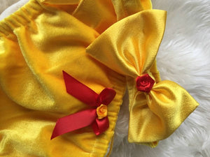 Beauty and The Beast Belle Bloomers 1st Birthday Outfitla Belle et la Bete Girl Baby Shower Baby Gift Disney Princess Birthday Velvet