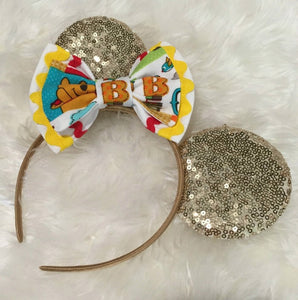Winnie the pooh Baby Shower Baby Bloomers Minnie Mouse Ears Headband 1st Birthday Outfit Pooh Disney Bloomers  Baby Girl Clothes