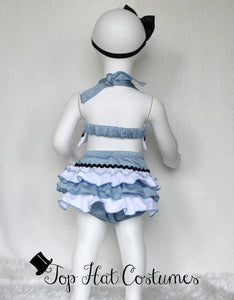 Alice in Wonderland Costume 1st birthday outfit Tim Burton  Bloomers Alice Wonderland Birthday Baby Headband Baby Girl Baby gift Tea Party