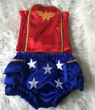 Wonder Woman Bloomers 1st Birthday Girl Outfit DC comics Costume Superhero Justice League Baby Girl Baby Shower Birthday Gift Baby Gift
