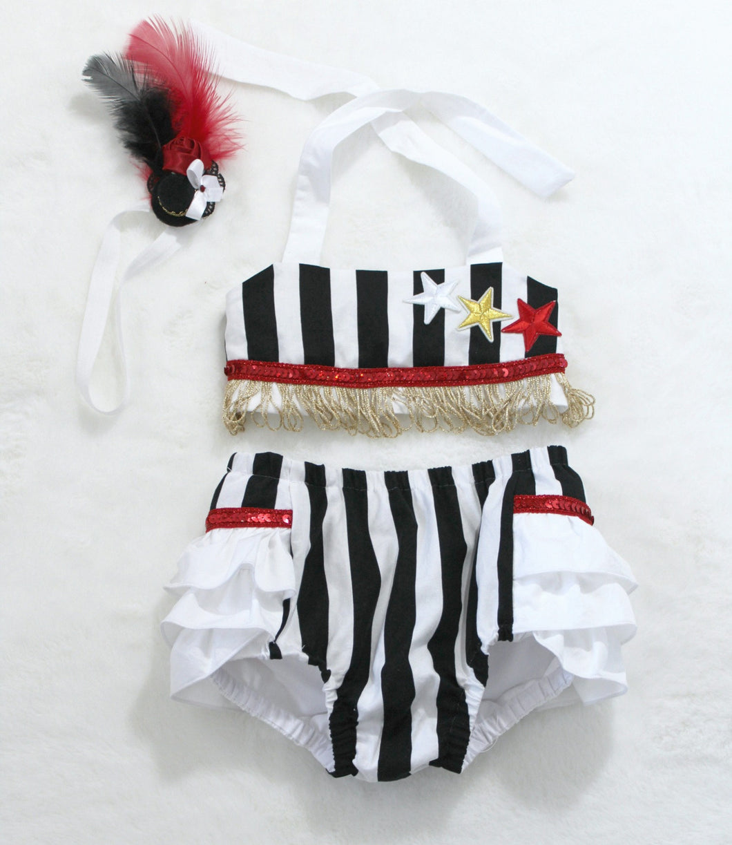 Circus costume cake smash bloomer set.