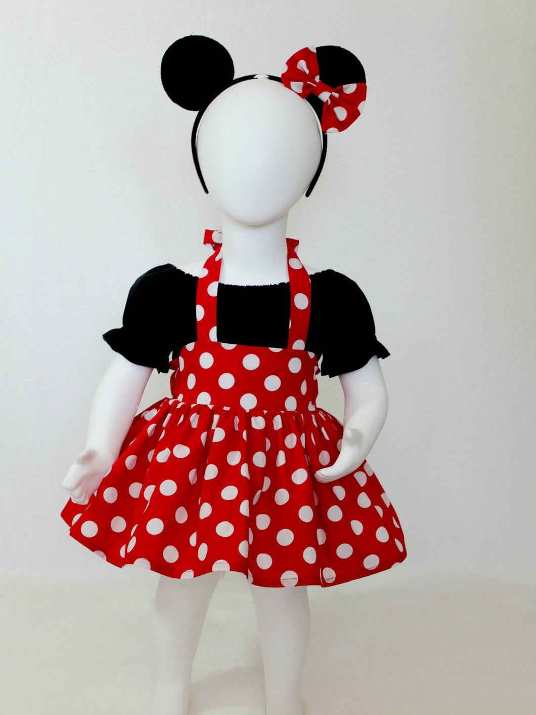Minnie Mouse Birthday Outfit with Minnie Mouse Ears