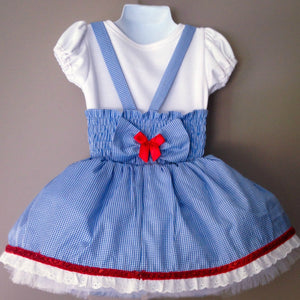 Wizard of oz, Pinafore Dance, Tutu, Tulle Skirt, Birthday, Dress, Dorothy costume, Girls dresses, Flower girl dress, Headband, Bow,