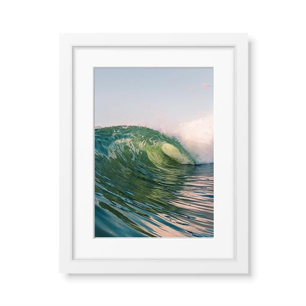 Frame fine art print of a smooth wave