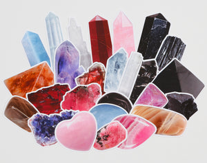 Healing Crystals Sticker Pack