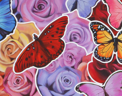 Butterflies and Roses Sticker Pack