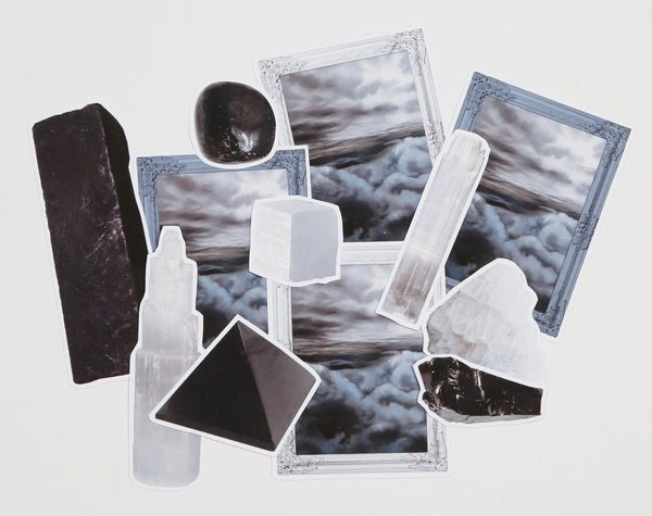 Selenite and Shungite Sticker Pack
