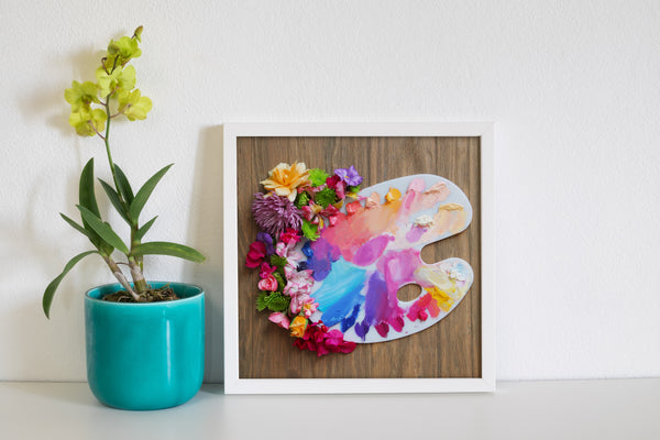 Paint and Flowers Photo Print
