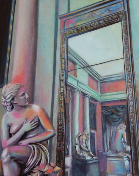 Girl in the Mirror Fine Art Print