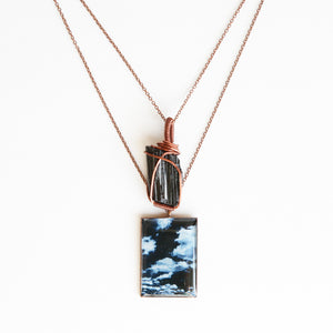Black Tourmaline Antique Copper Necklace