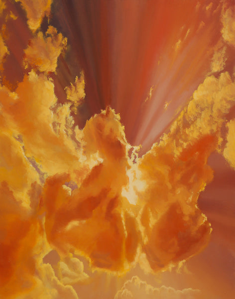 Citrine Sunrise Original Oil Painting