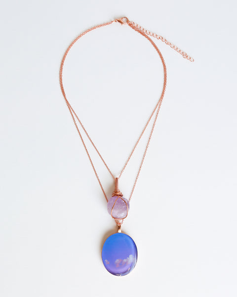 Amethyst Air Bright Copper Necklace