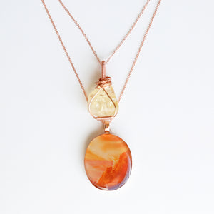 Citrine Summer Bright Copper Necklace