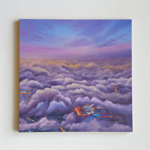 Lavender Skies Oil Painting