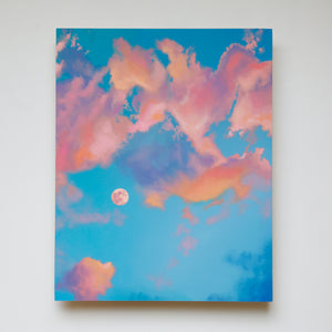 Cotton Candy Moon Original Oil Painting