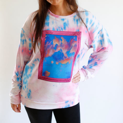 Cotton Candy Moon Tie Dye Sweatshirt