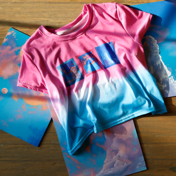 Cotton Candy Tie Dye Crop Top