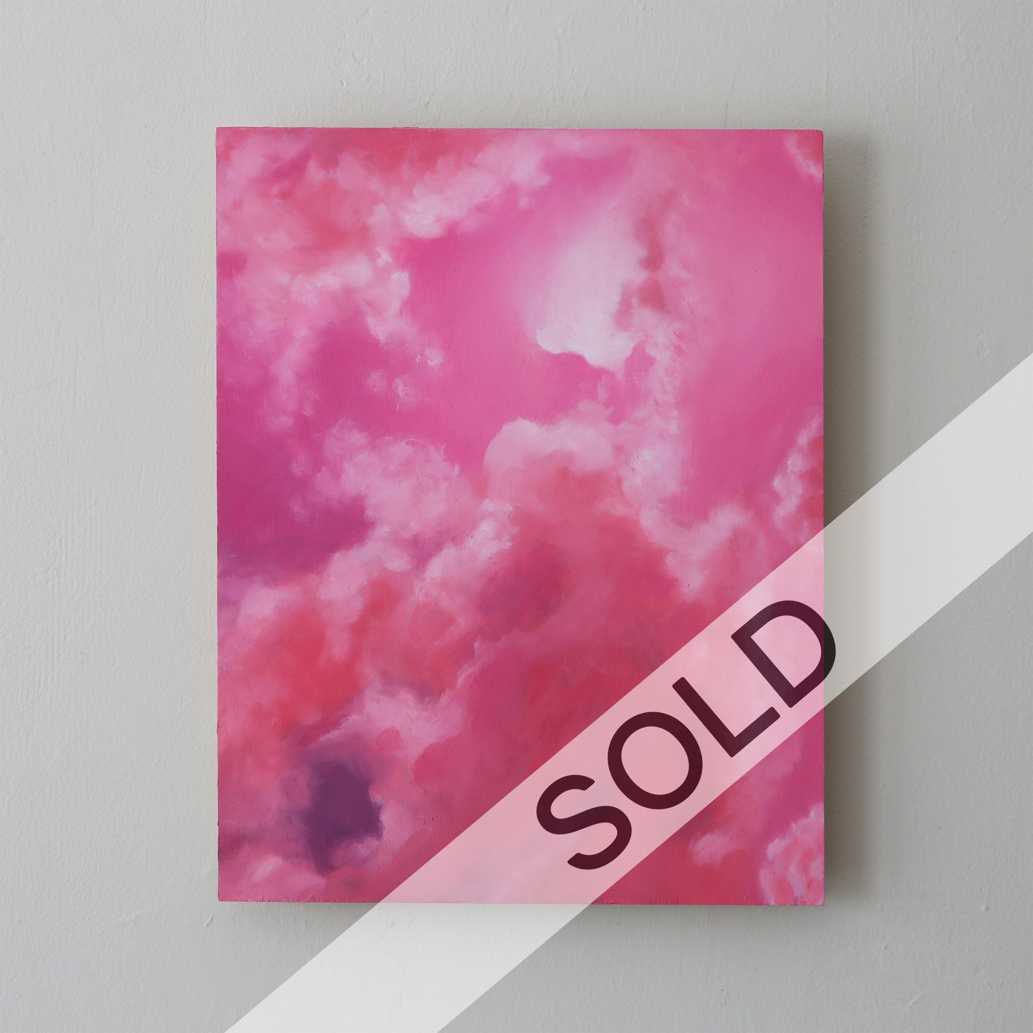 Rose Quartz Skies Original Oil Painting