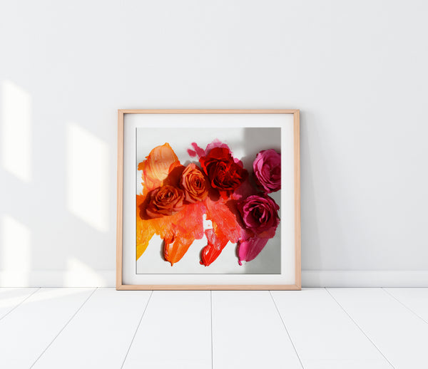 Painted Roses Photo Print