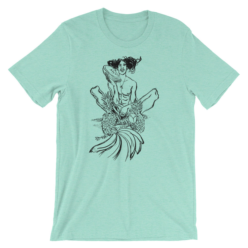 UNISEX Short-Sleeve T-Shirt. Pineapple.