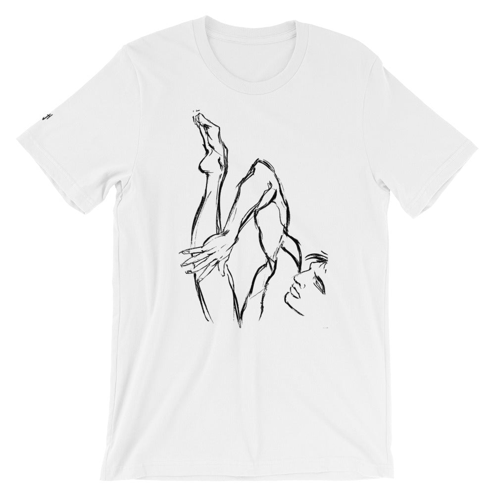 UNISEX Short-Sleeve T-Shirt. My ballet foot.