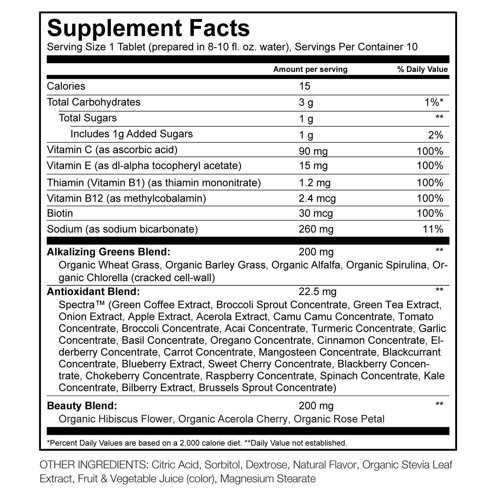 Pink Lemonade Green Superfood Effervescent Nutritional Information By Amazing Grass