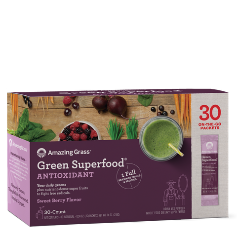 Green Superfood Antioxidant Sweet Berry 30 Count Box