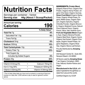 Chocolate Peanut Butter Organic Protein Superfood Powder Nutritional Info By Amazing Grass