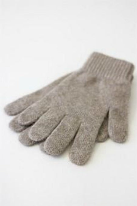Unisex Gloves. Full fingered. Possum Merino blended with Silk.