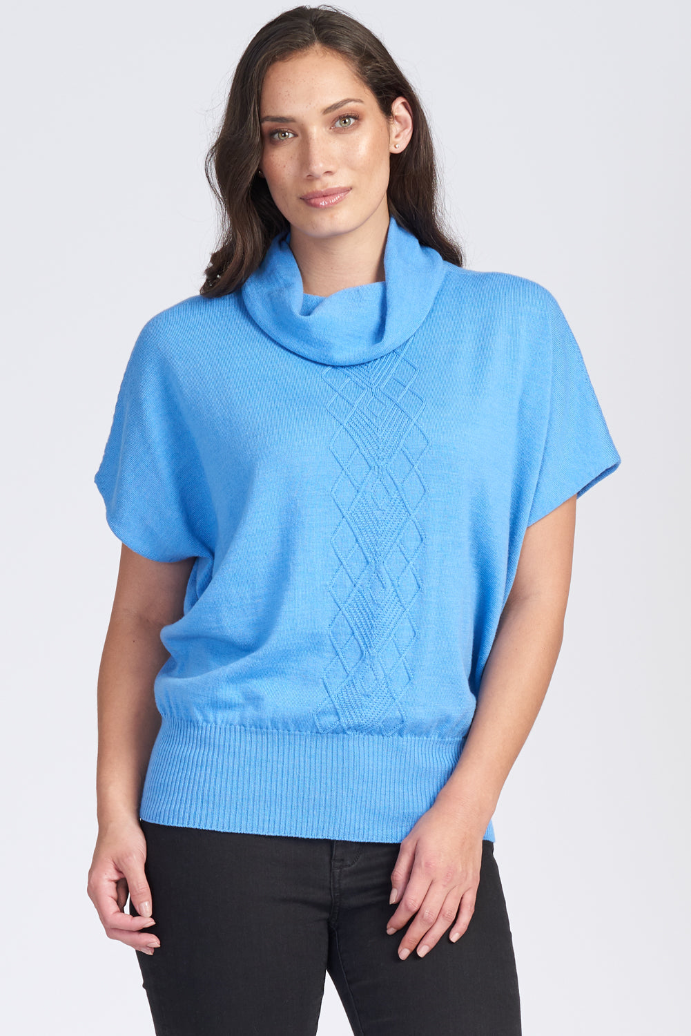 S/S Arran Front Cowl Neck Top