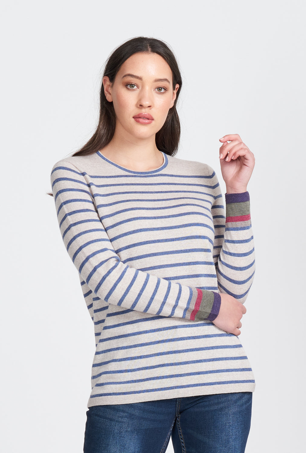 2566 Striped Jumper with Highlights
