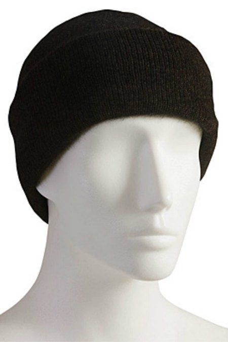 Unisex plain turn back brim beanie. Possum merino.