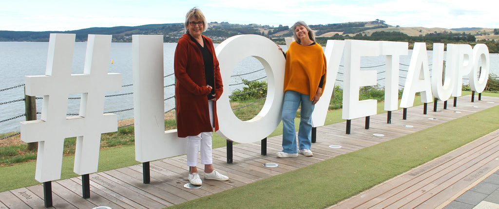 Robyn and Karen. Jumpers Taupo Locals