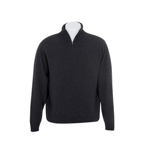 Mens Possum Merino jumper. Long sleeves and a 1/4 zip neck.