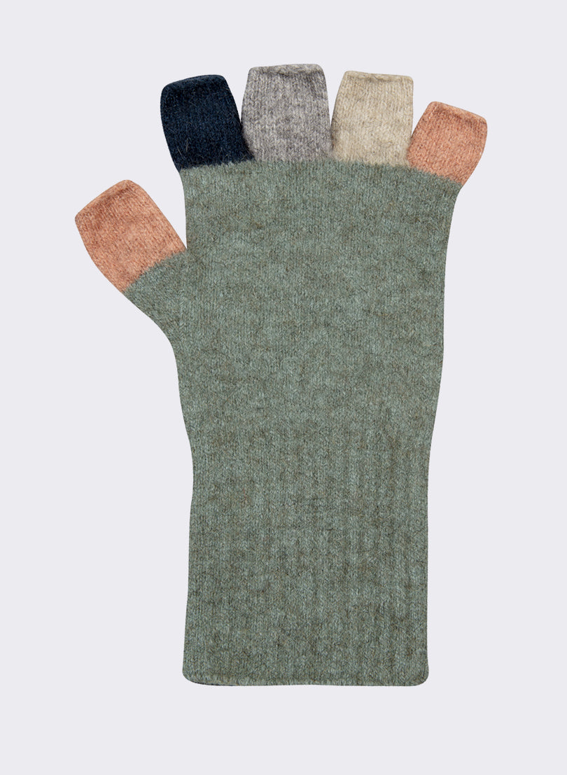 Multi Colour Fingerless Gloves