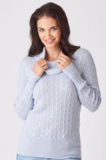 Cowl Neck Cable Jumper