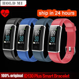Hold Mi ID130 Plus Color Smart wristband Heart rate Watches Smart bracelet Fitness tracker Smart band PK mi band 3 Honor band 3