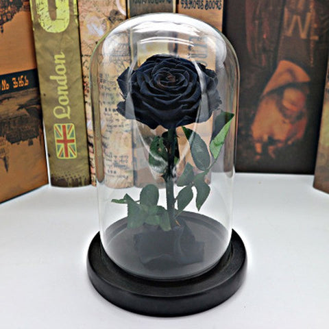 3 Colors Forever Rose Flower Preserved Immortal Fresh Rose In Glass Vase Cloche Wedding Decorations Centerpiece Unique Gifts