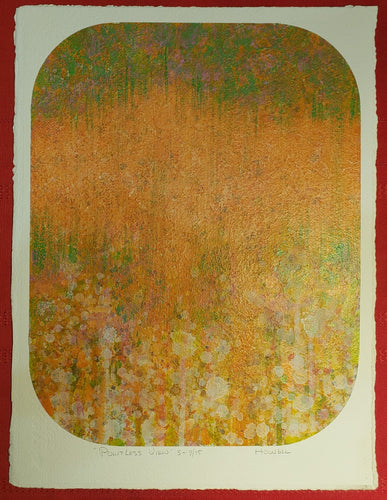 MID CENTURY 1975 ELWOOD HOWELL PAINTING ON ARCHES PAPER