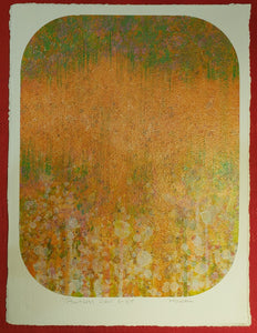 "MID CENTURY 1975 ELWOOD HOWELL PAINTING ON ARCHES PAPER ""POINTLESS VIEW 5"""