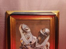 VINTAGE VENETIAN CARNIVAL OIL ON CANVAS PAINTING FRAMED UNSIGNED