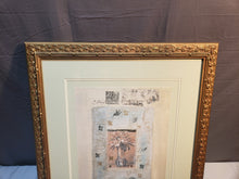 "LARGE FRAMED ANNABEL HEWITT ""FLOWERS III"" ORIGINAL MIXED MEDIA 1997 COA"