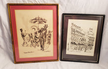 PAIR OF DONABETH JONES BOURBON STREET PRINTS OLYMPIA BRASS BAND ROYAL SONESTA
