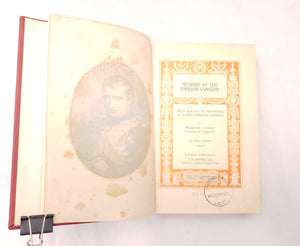 1901 MEMOIRS OF THE EMPEROR NAPOLEON BY ABRANTES VOLUME I II III ANTIQUE BOOKS
