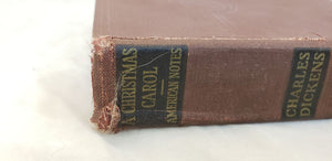 A CHRISTMAS CAROL BY CHARLES DICKENS VOLUME III CLEARTYPE EDITION ANTIQUE BOOK