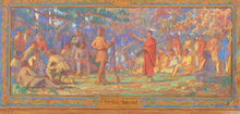 IMPORTANT PASTEL SKETCH BY CHARLES YARDLEY TURNER FOR HISTORICAL OHIO MURAL, CY