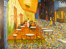 J. GARRAH OIL ON CANVAS PAINTING SIGNED ITALIAN BISTRO STREET SCENE